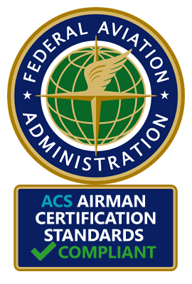 100% FAA Airman Certification Standards (ACS) Compatible and Compliant!
