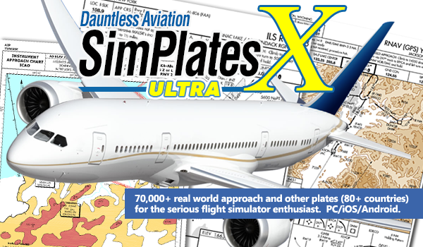 SimPlates 70,000+ IFR Approach Plates